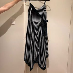 Banana Republic Blue Striped Dress